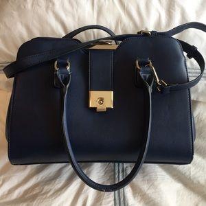 Handbags - Navy blue shoulder bag purse